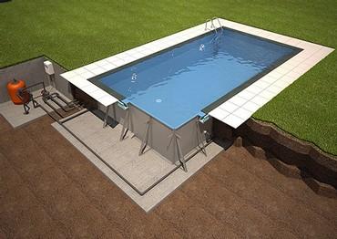 Πισίνα 4 x 8m μεταλλική