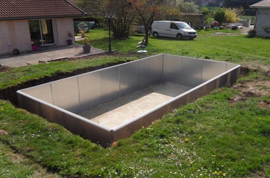 Πισίνα 3 x 6m μεταλλική