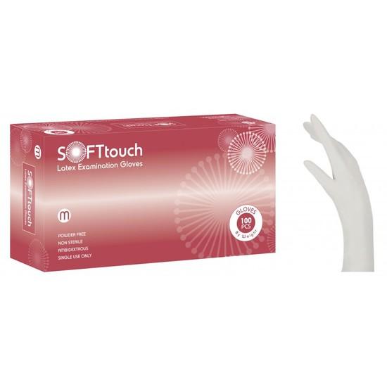 Γάντια latex Soft Touch λευκό χωρίς πούδρα SMALL
