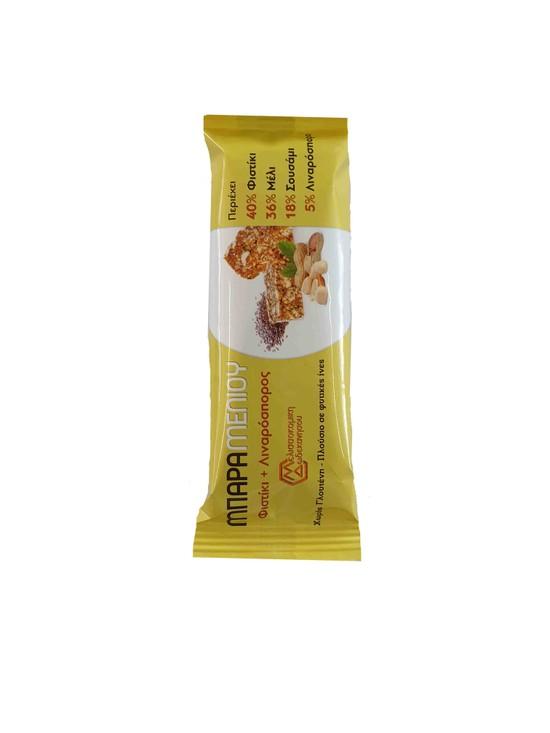 Μπάρα Μελιού με Φιστίκι+ Λιναρόσπορο 40γρ
